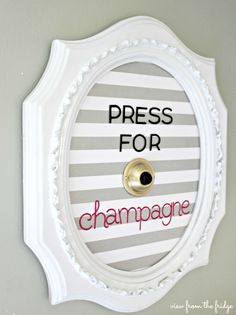"Every Lady needs one of these! Mine would say: ""Press for Laundry Fairy""! Thrift Store Upcycled Frame  