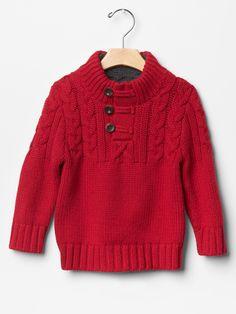 Gap | Sherpa mockneck cable sweater