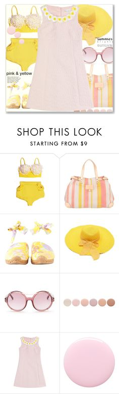 """Pink & yellow"" by jan31 ❤ liked on Polyvore featuring Liebeskind, Chanel, Tom Ford, Deborah Lippmann, RED Valentino and Nails Inc."
