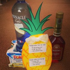 "21st birthday drink recipe and ingredients for ""pineapple upside down cake"" drink and shot!"