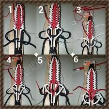 """This looks like a fabulous spear cover/head. This how-to is a submission from one of our fans, Chris Mitchell. He calls this creation the """"Katahdin Bar Bracelet. Paracord Weaves, Paracord Knots, Paracord Bracelets, Indoor Crafts, Diy And Crafts, Paracord Tutorial, Parachute Cord, Paracord Projects, Fabric Yarn"""