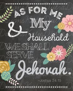 As For Me & My Household for Jehovah's by KatieDutraDesigns