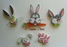 Quilled Cartoon Figures _ by: Simona Elena
