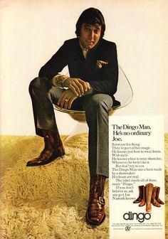 1970 Advertisement Joe Namath Dingo Boots NFL Football Star Broadway New York Jets LA Los Angles Rams Collectible Wall Art Decor Vintage Advertisements, Vintage Ads, Vintage Posters, Dingo Boots, Magazine Advert, Joe Namath, Broadway News, Great Ads, Old Ads
