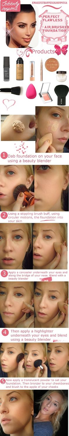 Flawless, Airbrushed Looking Foundation..i'm going to start doing this..