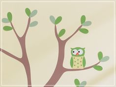 Owls. Really cute site for eco-friendly wall decals for kids' rooms.
