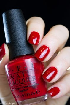 OPI Big Apple Red. http://www.blingfinger.net/2015/04/opi-big-apple-red.html
