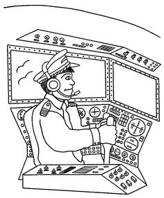 coloring pages of flight attendent