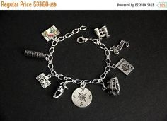 BACK to SCHOOL SALE Italy Bracelet. Italian Charm Bracelet. Travel Bracelet. Tourist Bracelet. Traveler Bracelet. Silver Bracelet. Handmade by GatheringCharms from Gathering Charms by Gilliauna. Find it now at http://ift.tt/2v43bio!