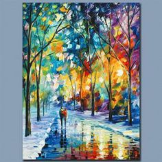 "Leonid Afremov! ""Under the Gaze"" LIMITED EDITION Giclee on Canvas, Numbered and Signed with Certificate! List $500"