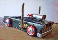 Ratted Chevy Pedal Car