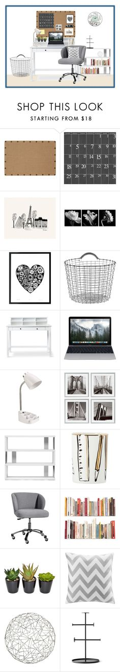 """Study Room"" by skybeauty1109 ❤ liked on Polyvore featuring interior, interiors, interior design, home, home decor, interior decorating, Oh! Home, Rifle Paper Co, Korbo and Post-It"