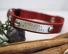 Cat Collar, cat collar breakaway, leather cat collar, breakaway cat collar, breakaway collar, breakaway clasp, personalized collar.