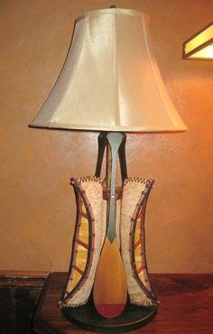 Birch Bark Canoe Table Lamp