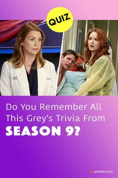 This trivia quiz will test your knowledge on how well you remember all of the Grey's Anatomy trivia from season nine. #greysseason9 #greysQuiz #greysanatomy #greysanatomyquiz