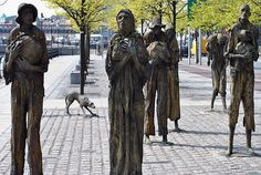 Famine Statues, Dublin, Ireland The weeping angels have spread Dublin Ireland, Ireland Travel, Places To Travel, Places To Visit, Irish Famine, Erin Go Bragh, Irish Culture, England, Wales