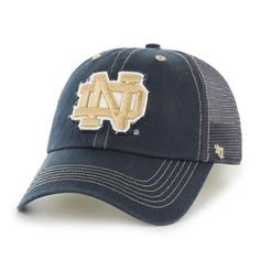 ec8b0ac3cd9 Notre Dame Fighting Irish  47 Brand Flexbone Closer Flex Hat - Navy