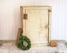 Vintage Wooden Cabinet Farmhouse Kitchen by TheHeirloomShoppe
