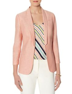 Linen Slim Lapel Blazer from THELIMITED.com