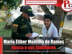 Personal de la Policía encontró a la señora MARÍA ELIBER MONTILLA DE RAMOS de 63 años de edad, divagando sin rumbo en las calles de Santander de Quilichao. Información completa:[http://www.proclamadelcauca.com/2014/09/maria-eliber-montilla-de-ramos-busca-a-sus-familiares.html]