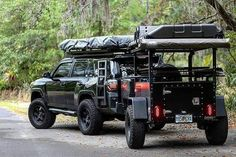 Jeep Wrangler Discover Freespirit Recreation: Overlander Trailer Off road trailer featureing 31 all-terrain tires an axel-less suspension system from Timbren and a sleek rugged look that is sure to complement. Off Road Trailer, Off Road Camper, Trailer Tent, Trailer Build, Jeep Willys, Chevrolet Blazer, Motorcycle Camping, Camping Gear, Camping Water