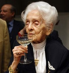 Rita Levi-Montalcini, became the first Nobel Prize-winner to reach the age of 100 in 2009.  From 2001 until her death in 2012, she also served in the Italian Senate as a Senator for Life.