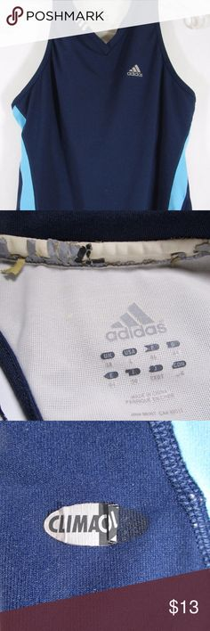 Adidas ClimaCool Racerback Sz L Shelf Bra Sports Womens Adidas ClimaCool Racer Back Tank Top Size L Running Reflective Shelf Bra.  In Good condition structurally - signs of wear/laundering some of the reflective material is cracked from dryer, piling on bra band - see photos. adidas Tops Tank Tops