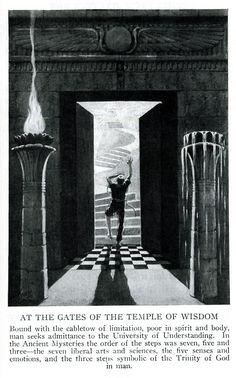 Freemasonry:  At the Gates of the Temple of Wisdom. #Freemasonry.