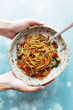 made with just soy sauce, sesame oil, a pinch of sugar, ramen noodles or spaghetti noodles, and any veggies or protein you like. SO YUMMY! Vegetarian Recipes, Cooking Recipes, Healthy Recipes, Vegan Vegetarian, Vegetarian Lo Mein, Vegetarian Spaghetti, Veggie Side Dishes, Pasta Dishes, Asian Recipes