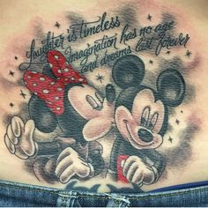 Mickey and Minnie tattoo