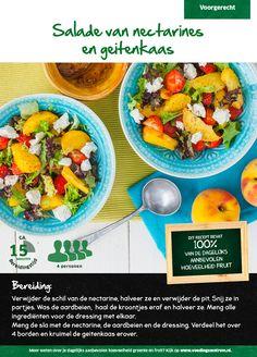 Recept voor een salade van nectarines en geitenkaas #Lidl