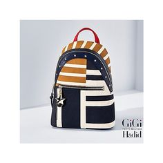 Tommy Hilfiger Canvas Backpack Gigi Hadid (2.000 ARS) ❤ liked on Polyvore featuring bags, backpacks, backpack bags, star bag, daypack bag, canvas bag and studded backpack