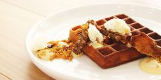 Teneriffe's Sourced Grocer has gained a new sibling, with Gauge opening its doors in South Brisbane last week. Cool Cafe, Best Breakfast, Brisbane, Waffles, Eat, Food, Eten, Waffle, Meals