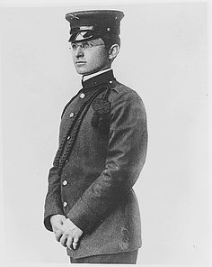 This photo shows Harry S. Truman, the future U.S. President, in his Missouri National Guard Uniform, in 1912. This photo is from the National Archives, ARC Identifier 199750