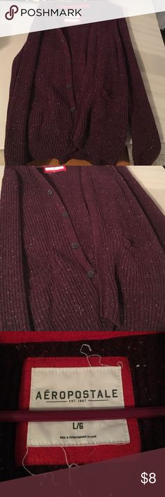 Burgandy Cardigan Burgundy Cardigan, originally from MENS section, purchased for the oversized look on me, so its unisex! Aeropostale Jackets & Coats