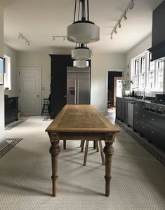 Is A Black And White Kitchen The Answer To A Mid-Century Mess? (FLOOR - HEX WITH A BORDER)