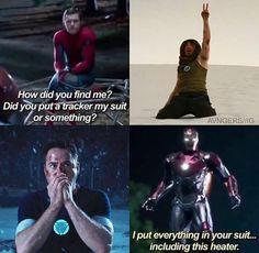 Tony - Peter - Spiderman Homecoming