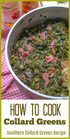 If you love Southern Soul Food, then you will love this Southern Collard Greens recipe. I take you step-by-step on how to cook collard greens just like your grandma would have made them. They turn out soft, tender, and flavorful. #howtocookcollardgreens #southerncollardgreens Vegetable Side Dishes, Vegetable Recipes, How To Cook Collards, How To Cook Greens, Side Dish Recipes, Dinner Recipes, Lunch Recipes, Drink Recipes, Southern Collard Greens