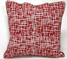 Rushes Red Cushion Covers