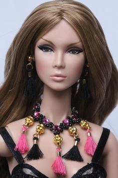 Ensemble de bijoux poupée OOAK pour Barbie Fashion Royalty, Poppy Parker,