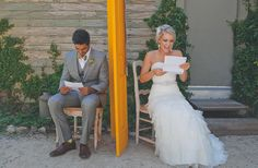 Letters before the wedding without seeing each other. Love.