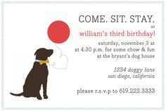 Dog Themed Birthday Party for next year after we finish the fence! Daphne is going to freak, she loves puppies!!!