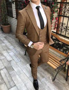 Mens Fashion Vintage MensFashionLogo is part of Wedding suits men - Indian Men Fashion, Mens Fashion Suits, Mens Suits, Fashion Outfits, Blazer Outfits Men, Stylish Mens Outfits, Moda Formal, Dress Suits For Men, Brown Suits