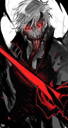 Majin Form - Morning Tutorial and Ideas Demon Art, Anime Demon, Dark Fantasy Art, Dark Art, Fantasy Characters, Anime Characters, Style Anime, Dark Anime Guys, Devil May Cry
