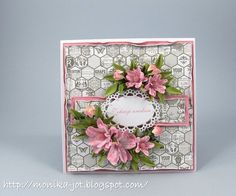 Grey and pink by Monia - Cards and Paper Crafts at Splitcoaststampers