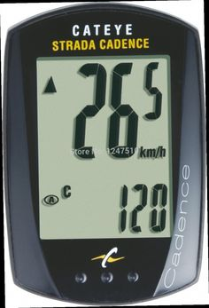 45.00$  Buy now - http://alil7k.worldwells.pw/go.php?t=32353330832 - CatEye Strada Cadence Bicycle CC-RD200 Wired GPS Cycling Bike Computer Speedometer Sets With 9 Functions Accessories Black