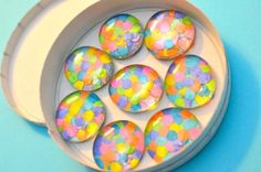 Gem magnets to make as holiday gifts.