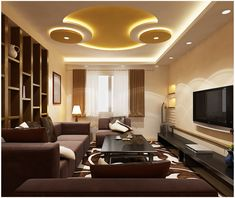 modern false ceiling pop design with LED lighting