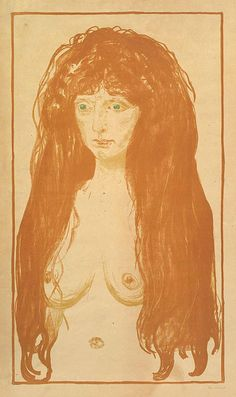 """ The Sin (Woman with Red Hair and Green Eyes) Artist: Edvard Munch (Norwegian, Løten Ekely) Date: 1902 "" Edvard Munch, Manet, Wow Art, Art Institute Of Chicago, Renoir, Free Illustrations, Metropolitan Museum, Green Eyes, Les Oeuvres"