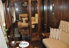 Gran Lujo (luxury) class cabin includes double bed, private lounge and ensuite toilet, sink and shower/steam sauna. Photo by Angela Walker.